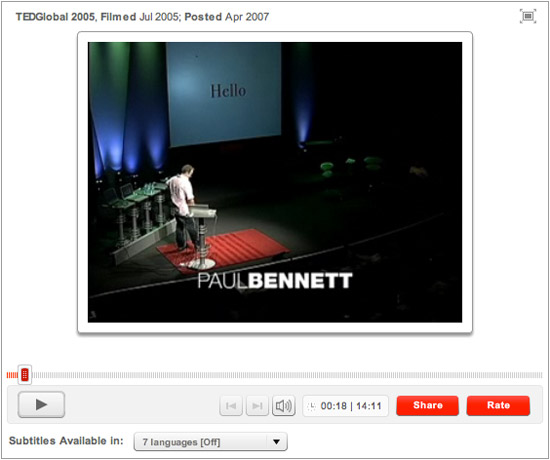 Paul Bennett TED Talk