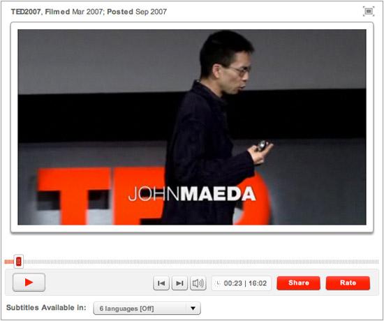 John Maeda TED Talk