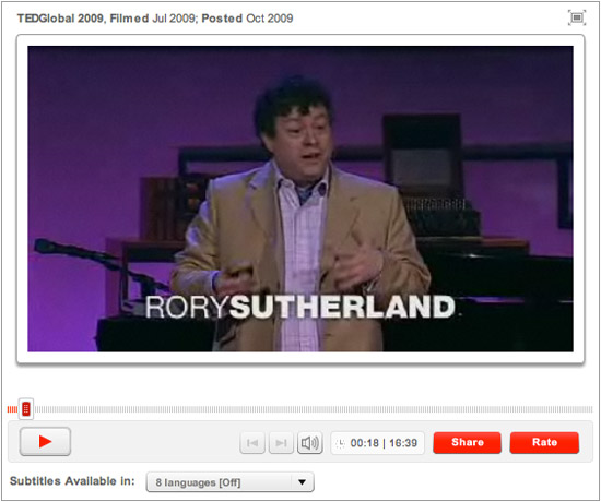 Rory Sutherland TED talk