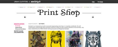 the print shop website