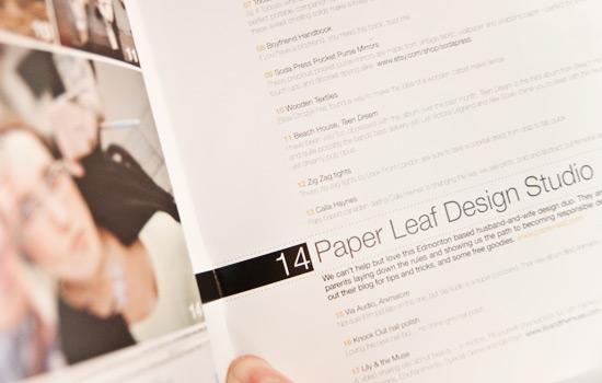 Paper Leaf Design in Parlour Magazine