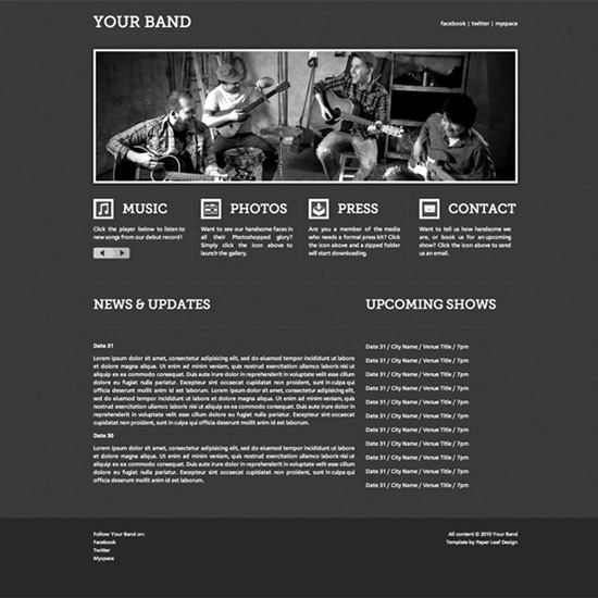 YourBandTemplate