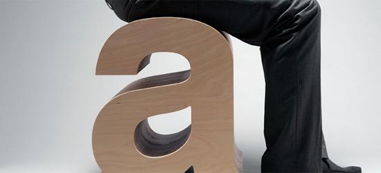 Hestell Helvetica Stool