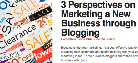 3 perspectives on Marketing a New Business Through Blogging