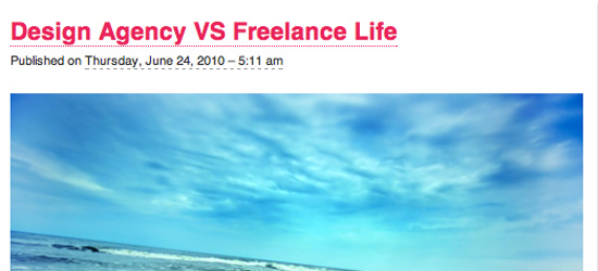 Agency vs. Freelance Life