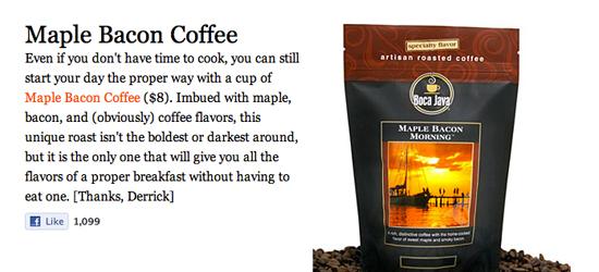 Maple Bacon Coffee - DESIGNER MEGAFUEL