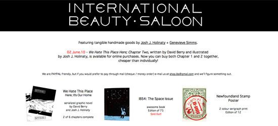 International Beauty Saloon - Edmonton Design & Illustration