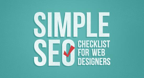 Simple SEO Checklist for Web Designers