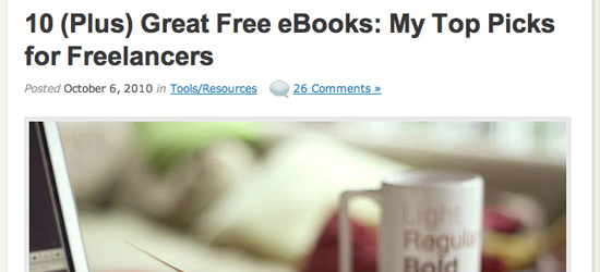 10 Free eBooks for Freelancers