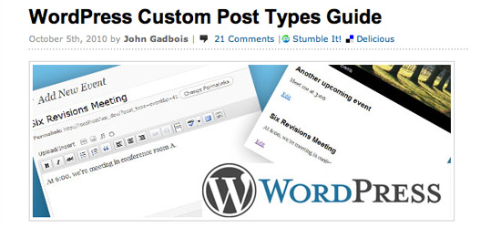 Wordpress Custom Post Types Guide