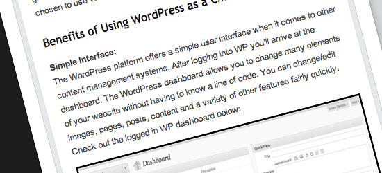 Wordpress as a CMS