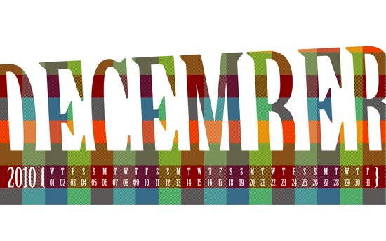December 2010 Desktop Calendar Wallpaper