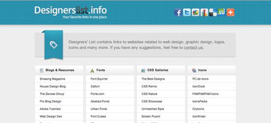 Designers List