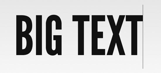 Big Text JQuery Plugin for Web Designers