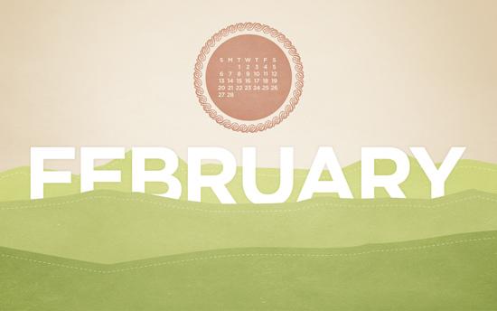 February 2011 Desktop Calendar Wallpaper