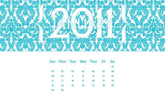 January 2011 Desktop Calendar Wallpaper