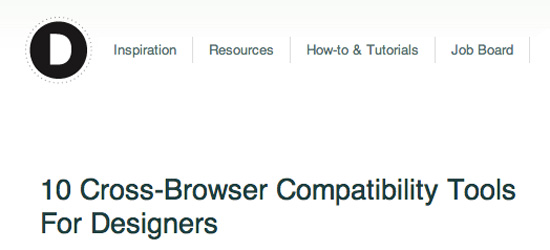 Cross Browser Compatibility Tools