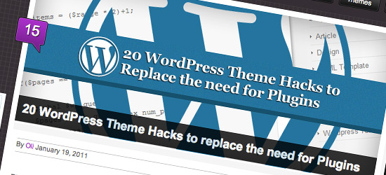 20 WordPress Theme Hacks