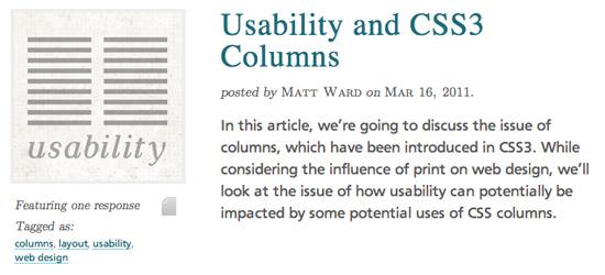 CSS3 Columns