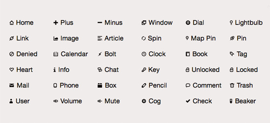 Font Embedding Icons