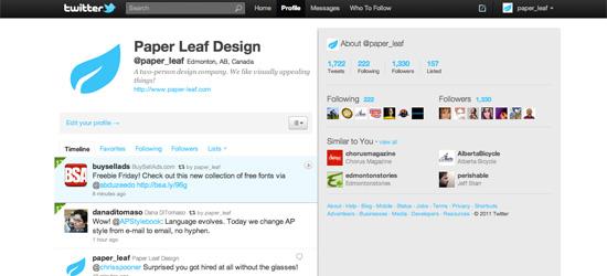 Paper Leaf Design on Twitter