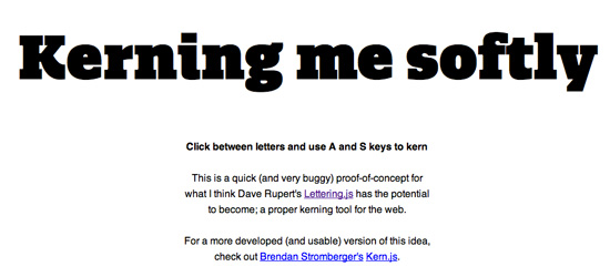 Kerning with Lettering.js