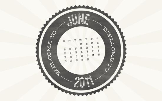 June 2011 Desktop Calendar Wallpaper