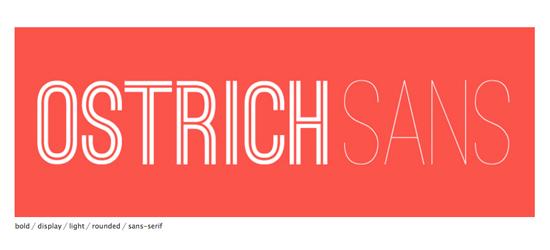 Ostrich Sans Typeface