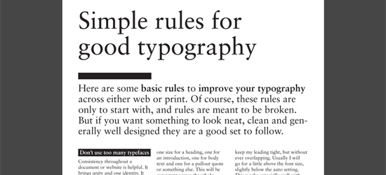 Good Typography - Hierarchy