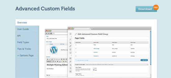 Advanced Custom Fields for WordPress