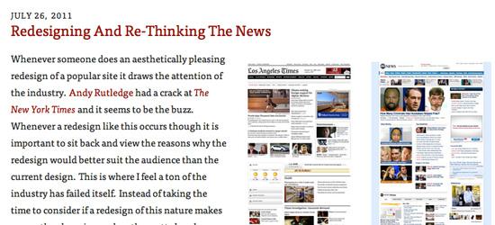 Redesigning & Rethinking the News