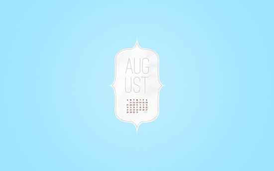August 2011 Desktop Calendar Wallpaper