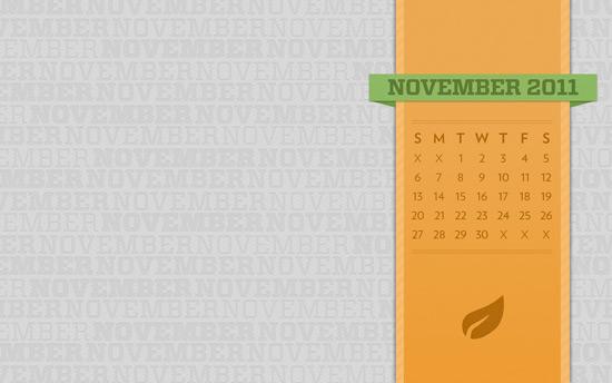November 2011 Desktop Calendar Wallpaper
