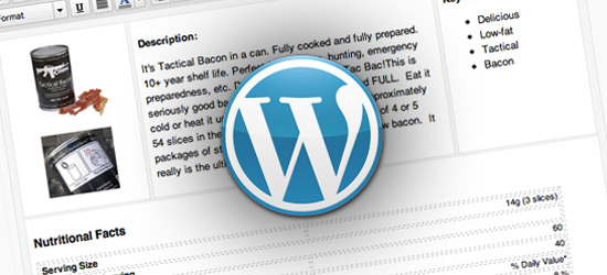 Advanced Layout in WordPress Content Editor