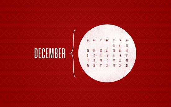 December 2011 Desktop Calendar Wallpaper