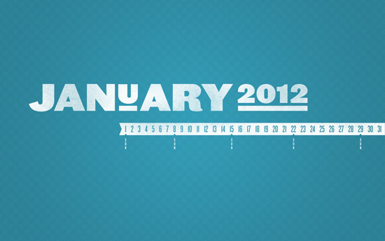 January 2012 Desktop Calendar Wallpaper