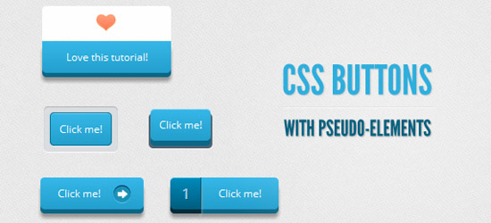 CSS buttons with Pseudo Elements