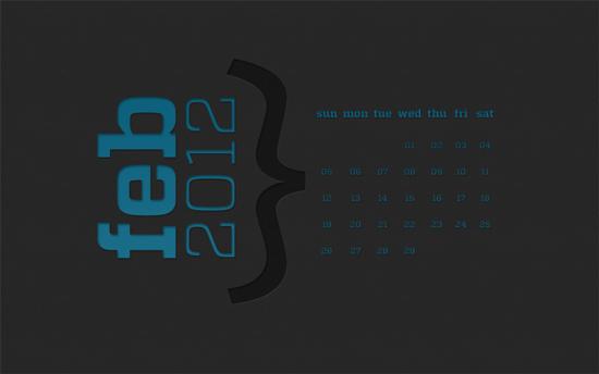 February 2012 Calendar Wallpaper