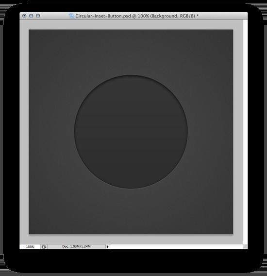 Web Design Inset Button