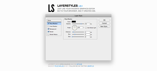 Layer Styles CSS
