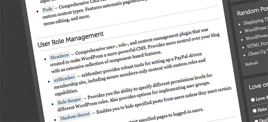 WordPress CMS Plugins