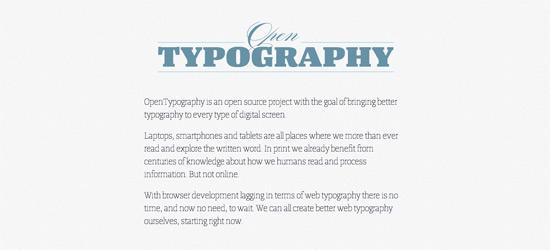 Open Typography