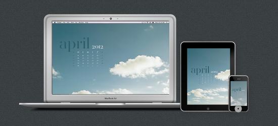 April 2012 Desktop Calendar Wallpaper