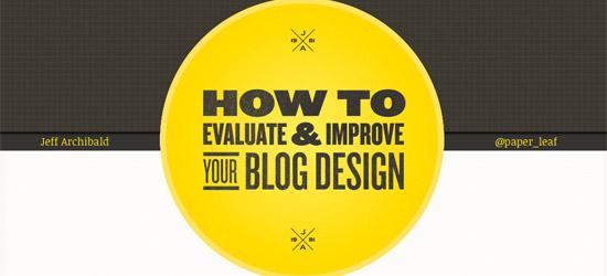 Evaluate & Improve your Blog Design
