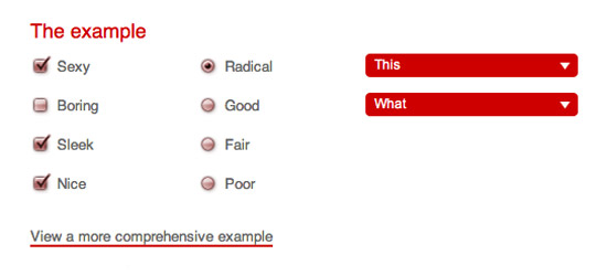 Styling Checkboxes & Radio Buttons