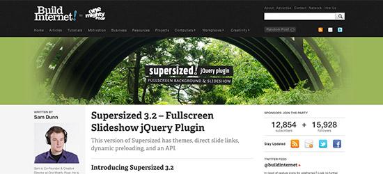 SuperSized jQuery Plugin