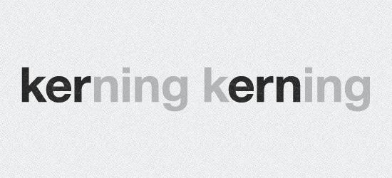 Three Letter Block Kerning Technique