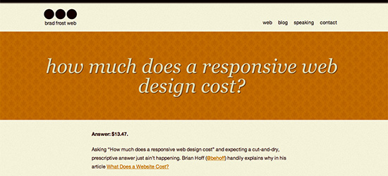 Responsive Web Cost