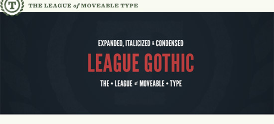 League Gothic Extended