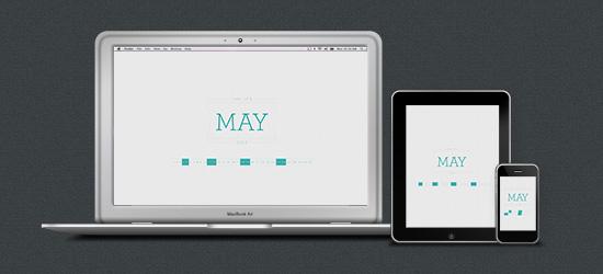 May 2013 Desktop Calendar Wallpaper Preview